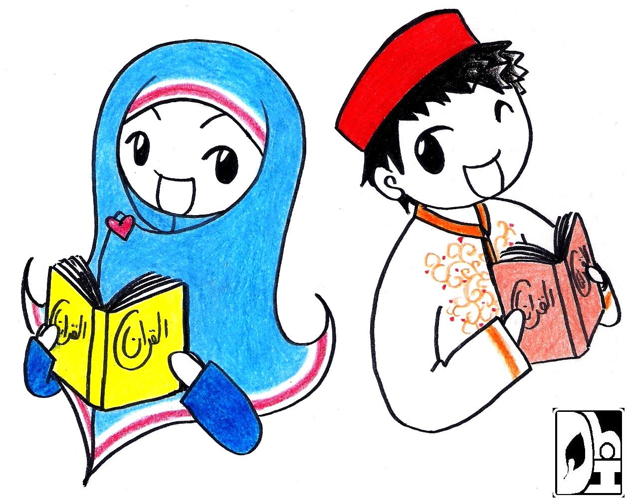 Gambar Kartun Anak Ramadhan Top Gambar